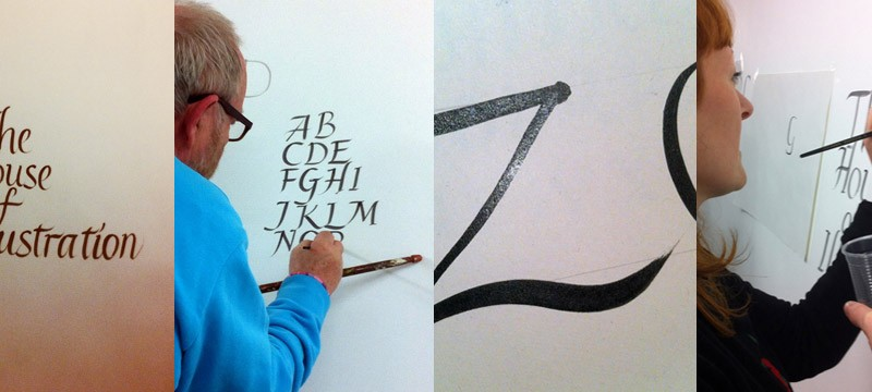Signwriting with Ray Howell at House of Illustration
