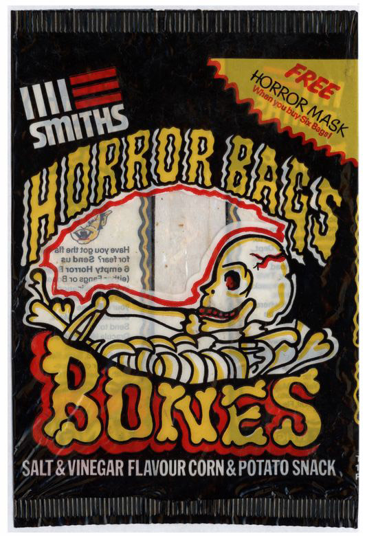 'Horror Bags: Bones' Smiths crisps packaging