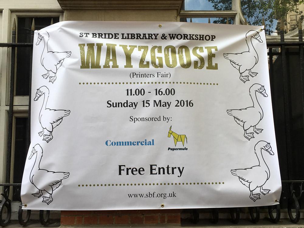 St Bride Wayzgoose 2016 banner