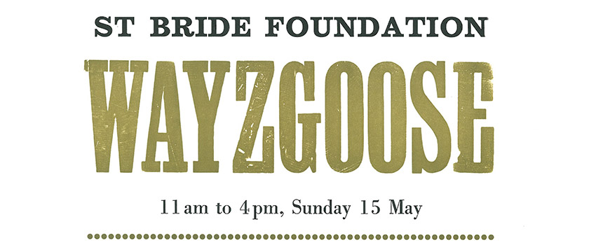 St Bride Foundation Wayzgoose 2016