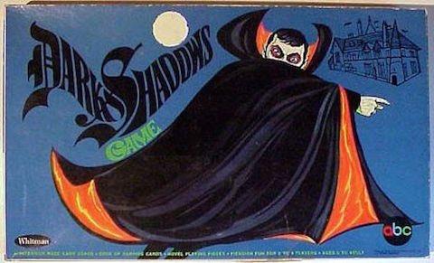 Dark Shadows board game box, 1969 via @MurrMarie
